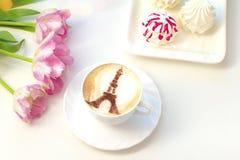 Koffie met liefde stock foto's