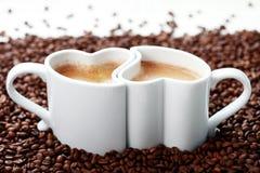 Koffie met liefde Royalty-vrije Stock Foto's