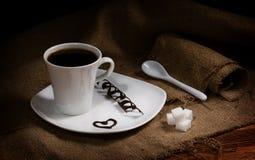 Koffie met liefde Stock Foto