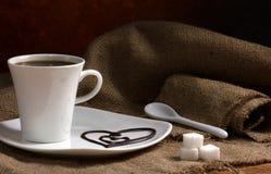 Koffie met liefde Royalty-vrije Stock Afbeeldingen