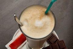 Koffie met melk Stock Foto's