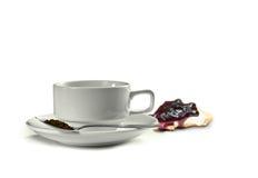 Koffie met pastei Stock Foto's