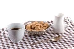 Koffie met room Royalty-vrije Stock Afbeelding
