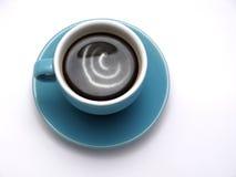 Koffie met Roomkan Stock Foto