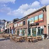 Koffie met terrassen bij Paleisring, Tilburg, Nederland Royalty-vrije Stock Fotografie
