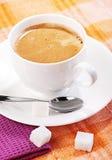 Koffie met vooruit royalty-vrije stock foto