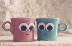 Koffie met vrienden Stock Foto
