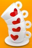 Koffie met vrienden stock illustratie