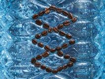 Koffie met waterdalingen Royalty-vrije Stock Afbeeldingen