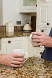 Koffie in moderne keuken Stock Foto