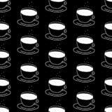 Koffie naadloos vectorpatroon Stock Foto