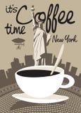 Koffie New York Stock Foto's