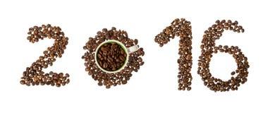 Koffie nieuw jaar, 2016 stock afbeelding