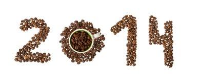 Koffie nieuw jaar, 2014 Stock Afbeelding