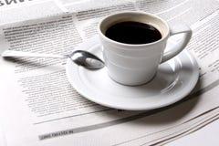 Koffie, nieuws Stock Afbeelding