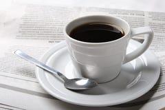 Koffie, nieuws Stock Foto's
