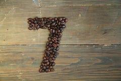 Koffie nummer zeven Stock Afbeelding