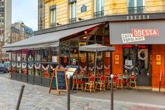 Koffie Odessa op de Boulevard Montparnasse in Parijs Royalty-vrije Stock Foto's