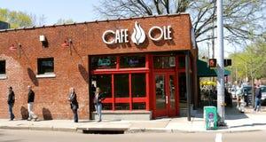 Koffie Ole in het Historische kuiper-Jonge District stock fotografie