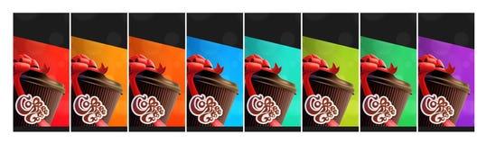 Koffie om de Voor het drukken geschikte te gaan Vrije Malplaatjes van Koffievliegers 3 versies Stock Fotografie
