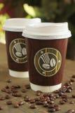 Koffie om te gaan royalty-vrije stock afbeeldingen
