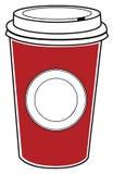 Koffie om te gaan Stock Foto