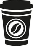 Koffie om te gaan kop vector illustratie