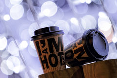 Koffie om weg te halen Royalty-vrije Stock Foto's