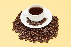 Koffie op de lijst Stock Fotografie