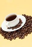 Koffie op de lijst Stock Foto's