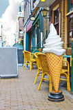 Koffie op de straat Gorinchem. Stock Foto's