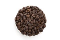 Koffie op de witte achtergrond Royalty-vrije Stock Fotografie