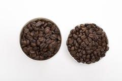 Koffie op de witte achtergrond royalty-vrije stock foto's