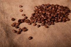 Koffie op de zak Royalty-vrije Stock Foto