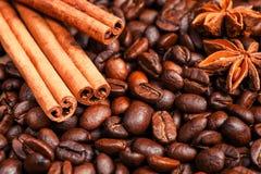 Koffie op grunge Stock Fotografie