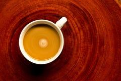 Koffie op het hout Stock Afbeeldingen
