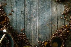 Koffie op hout Royalty-vrije Stock Afbeelding