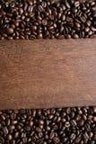 Koffie op houten achtergrond Royalty-vrije Stock Foto