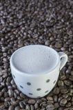 Koffie op koffie Royalty-vrije Stock Foto