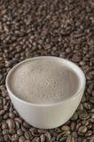 Koffie op koffie Stock Afbeelding