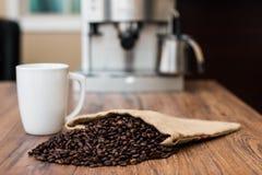 Koffie op lijst Royalty-vrije Stock Foto