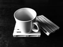 Koffie op pallet Royalty-vrije Stock Afbeeldingen