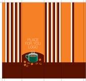 Koffie-pakket-ontwerp-kant-met-lijnen Stock Afbeelding