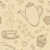 Koffie-patroon stock illustratie