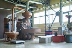 Koffie Roosterende Machines royalty-vrije stock fotografie