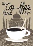 Koffie Taj Mahal Royalty-vrije Stock Afbeeldingen