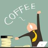 Koffie tevreden Royalty-vrije Stock Afbeeldingen