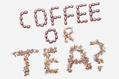 Koffie of thee? Royalty-vrije Stock Afbeeldingen