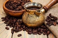 Koffie in Turk Stock Fotografie