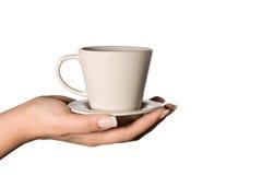Koffie in uw hand Royalty-vrije Stock Foto